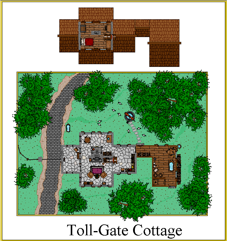 Dark Leagues Fantasy Mapping Tollgate Cottage